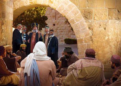 2 - Jesús y sus discípulos comiendo pan - fariseos juzgan