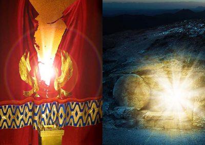 3-El velo rompiéndose y la roca de la tumba removida