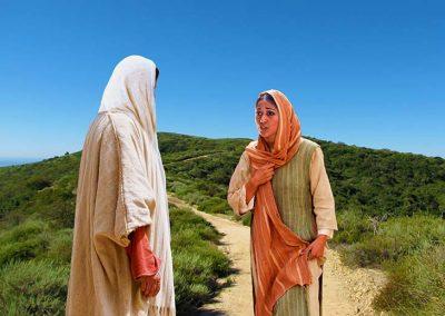 3 - Jesús hablando con Martha en el camino