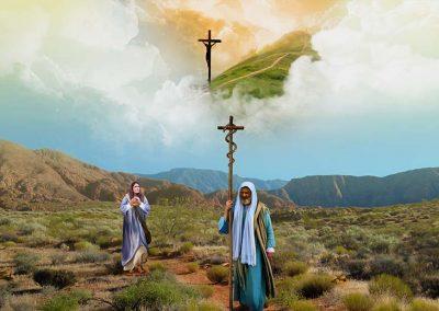 4 - Cristo levantado como la serpiente de bronce en el desierto