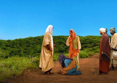 4 - Jesús con María y Martha