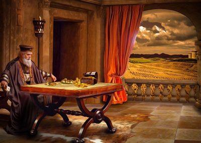 5 - Hombre rico contemplando su riqueza
