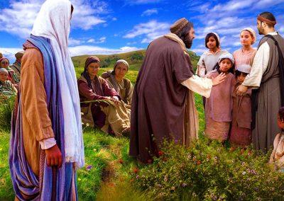 8 - Discípulos alejando a los niños de Jesús