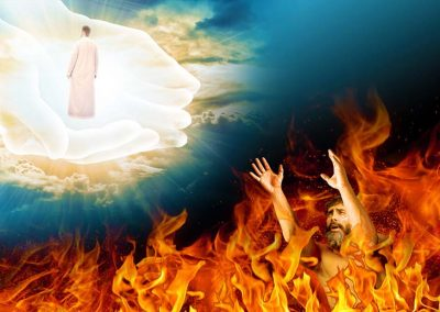 8 - El hombre rico en el infierno y Lázaro en el ceno de Abraham